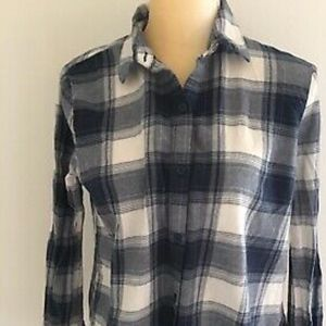 beach lunch lounge Womens Soft Cotton Flannel Navy